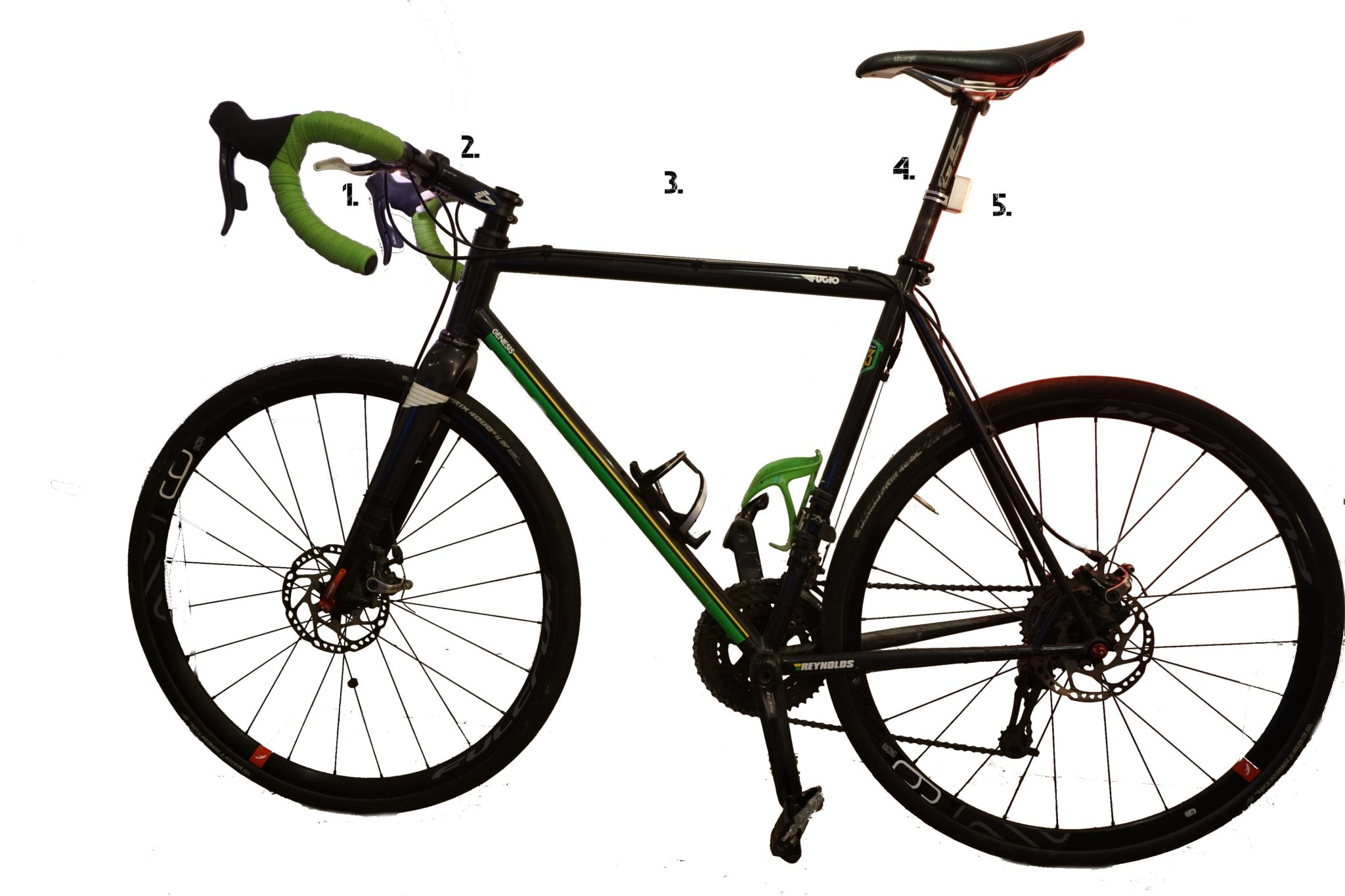 bike with numbers